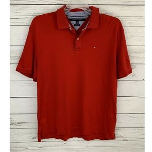 Tommy Hilfiger Polo Shirt Short Sleeve Classic Red